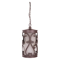 Craftmade Aged Bronze Glendale 1 Light Cylinder Outdoor Pendant - 8 Inches Wide