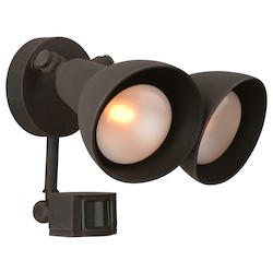 Craftmade Matte Black Dual Head 2 Light Flood Light