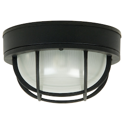 Craftmade Matte Black Bulkheads 1 Light Outdoor Wall Sconce - 10 Inches Wide
