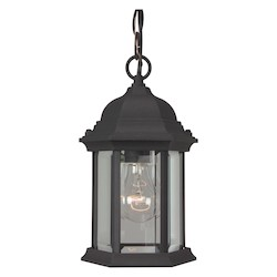 Craftmade Matte Black Hex 1 Light Outdoor Pendant - 6.5 Inches Wide