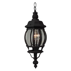 Craftmade Matte Black French Style 1 Light Lantern Outdoor Pendant - 6.25 Inches Wide