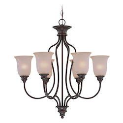 Craftmade Six Light Old Bronze Up Chandelier