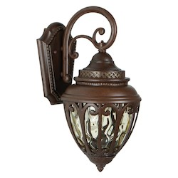 Craftmade Aged Bronze Olivier 1 Light Outdoor Wall Sconce - 8 Inches Wide