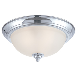 Craftmade Three Light Chrome Painted Glass Bowl Flush Mount