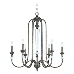 Craftmade Six Light Mocha Bronze Up Chandelier