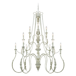 Craftmade Twelve Light Antique Linen Up Chandelier