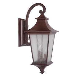 Craftmade Wall Lantern With Seeded Glass Shades, Aged Bronze Finish