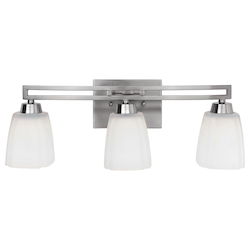 Craftmade Brush Nickel Sumner 3 Light Indoor Wall Sconce - 20.5 Inches Wide