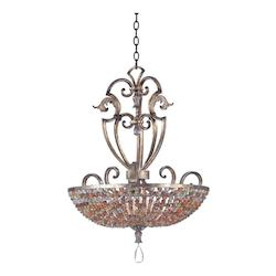 Kalco Six Light Tuscan Gold Up Pendant