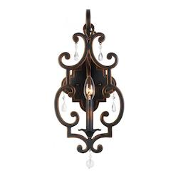 Kalco Antique Copper Montgomery 1 Light Ada Compliant Wall Sconce
