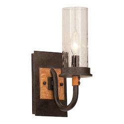 Kalco One Light Natural Iron Bathroom Sconce