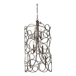 Kalco Six Light Heirloom Bronze Up Pendant