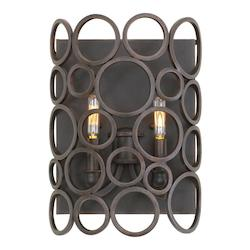 Kalco Vintage Iron Ashbourne 2 Light Ada Compliant Wall Sconce