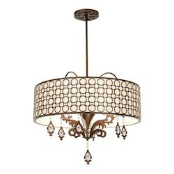 Kalco Chestnut Amesbury 6 Light Semi-Flush Ceiling Fixture