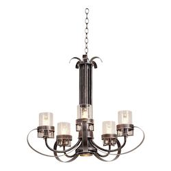 Kalco Vintage Iron Bexley 6 Light 1 Tier Chandelier