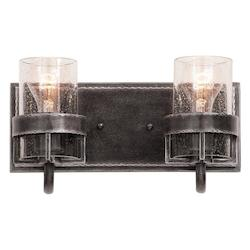 Kalco Vintage Iron Bexley 2 Light Bathroom Vanity Light