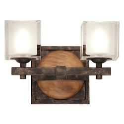 Kalco Florence Gold Hampton 2 Light Bathroom Vanity Light
