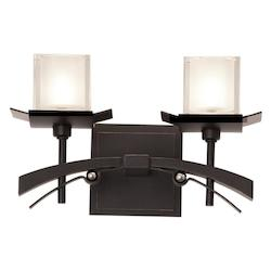 Kalco Tawny Port Nijo 2 Light Bathroom Vanity Light