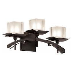 Kalco Tawny Port Nijo 3 Light Bathroom Vanity Light