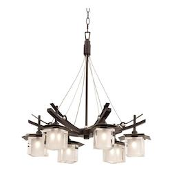 Kalco Tawny Port Nijo 6 Light 1 Tier Chandelier