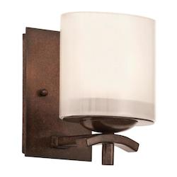 Kalco Tuscan Sun Stapleford 1 Light Bathroom Sconce