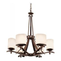 Kalco Tuscan Sun Stapleford 6 Light 1 Tier Chandelier