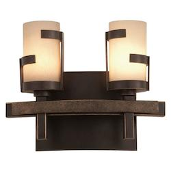 Kalco Tawny Port Emsworth 2 Light Ada Compliant Vanity Light