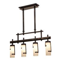 Kalco Tawny Port Emsworth 4 Light Linear Pendant