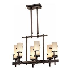 Kalco Tawny Port Emsworth 6 Light 1 Tier Chandelier