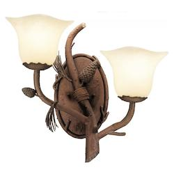Kalco Ponderosa Ponderosa 2 Light Wall Sconce