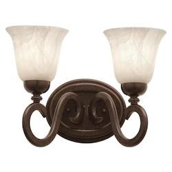 Kalco Tortoise Shell Santa Barbara 2 Light Bathroom Vanity Light