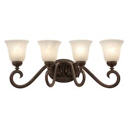 Kalco Tortoise Shell Santa Barbara 4 Light Bathroom Vanity Light