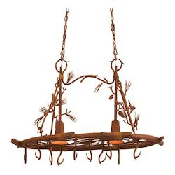Kalco Ponderosa Ponderosa 2 Light 1 Tier Linear Chandelier