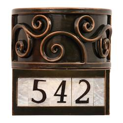Kalco Antique Copper Windsor 1 Light Outdoor Led Wall Sconce