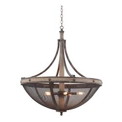 Kalco Florence Gold Coronado 6 Light Bowl Pendant