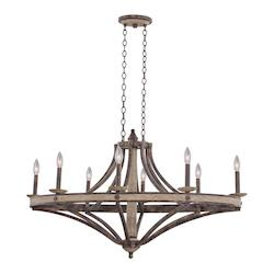 Kalco Florence Gold Coronado 8 Light 1 Tier Linear Chandelier