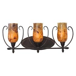 Kalco Heirloom Bronze Mateo 3 Light Bathroom Vanity Light