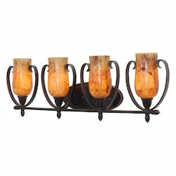 Kalco Heirloom Bronze Mateo 4 Light Bathroom Vanity Light