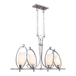 Kalco Flecked Iron Mateo 4 Light Mini Pendant
