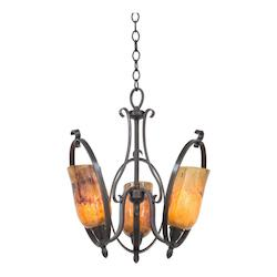 Kalco Heirloom Bronze Mateo 3 Light 1 Tier Chandelier