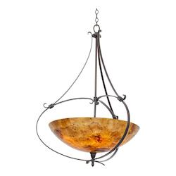 Kalco Heirloom Bronze Mateo 5 Light Bowl Pendant
