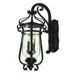 Kalco Three Light Antique Copper Wall Lantern