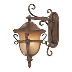 Kalco Walnut Tudor Outdoor 3 Light Wall Sconce