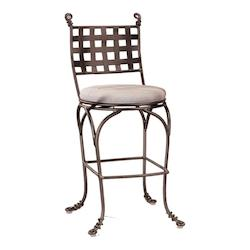 Kalco Bark Vine Swivel Bar Stool Without Arms