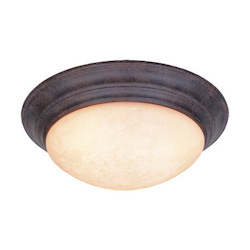 Designers Fountain Ancient Oak  3 Light 16.75in. Flush Mount from the Lunar Collection