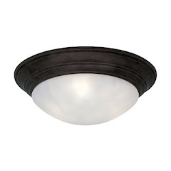 Designers Fountain Oil Rubbed Bronze 3 Light 16.75in. Flush Mount from the Lunar Collection
