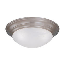 Designers Fountain Pewter 4 Light 20in. Flush Mount with Alabaster Glass Shade