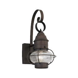 Designers Fountain Open Box Rustique 1 Light Outdoor 7in. Onion Wall Lantern from the Nantucket Collection