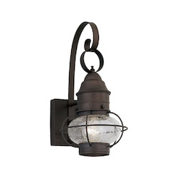 Designers Fountain Open Box Rustique 1 Light Outdoor 10in. Onion Wall Lantern from the Nantucket Collection