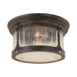 Designers Fountain Chestnut 2 Light Cast Aluminum Flush Mount from the Canyon Lake Collection